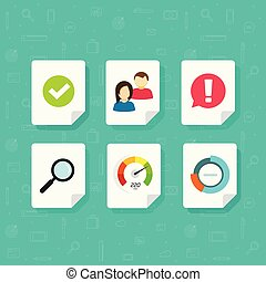 Vector icons set isolated on white clipart