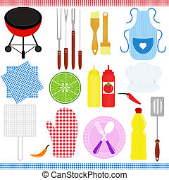 Vector Icons: set of Barbecue (BBQ)