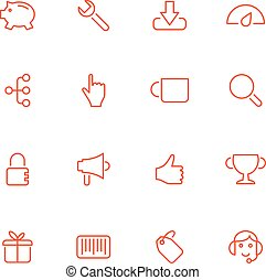 Vector icons.