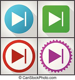 Vector icons with 4 options. Next flat design icon set easy to edit in eps 10.
