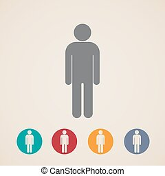 vector icons with a male sign