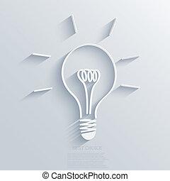 Vector idea background. Eps10