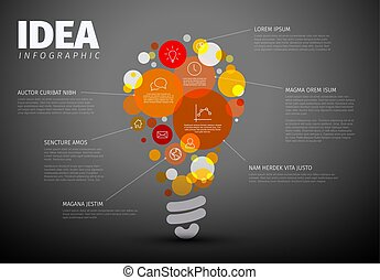 Vector idea Infographic template - circles with some content...