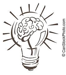 vector, idee, illustratie