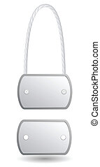 Vector identity metal tags