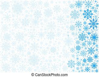 vector, ijzig, achtergrond, snowflakes