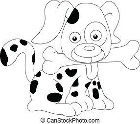 vector illstration of dog sketch