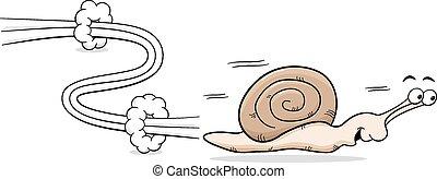 speedy snail - vector illuatration of a speedy snail