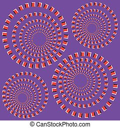 vector, -, illusie, optisch