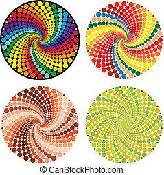 (vector, illusione ottica, eps)