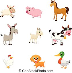 set of farm animal cartoon