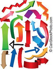 Vector illustrate arrows - A set of vector illustrate arrows...