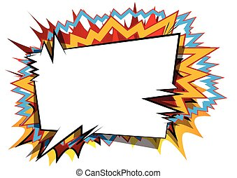 Vector illustrated comic book style background.