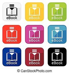 vector, illustratie, ebook