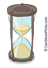 vector, illustratie, hourglass