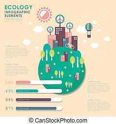 vector, illustratie, infographics, communie, ontwerp