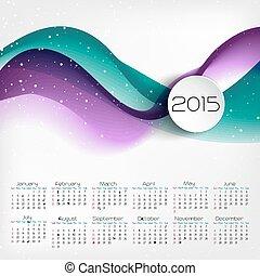 vector, illustratie, kalender, design.