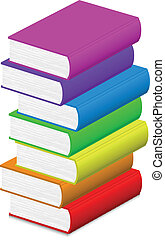 vector, illustratie, kleurrijke, boe