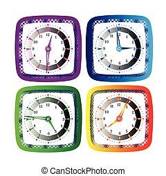 vector, illustratie, klok