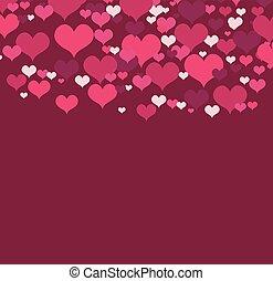 vector, illustratie, met, liefde harten
