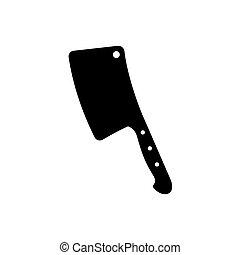 vector, illustratie, slager