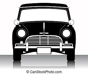 vector, illustratie, van, auto, silhouette