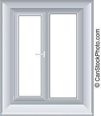 vector, illustratie, van, een, venster