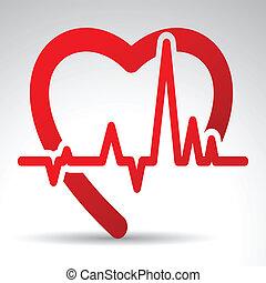 vector, illustratie, van, enkel, vrijstaand, medisch, pictogram