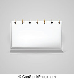 vector, illustratie, van, leeg, bureau kalender, model