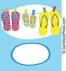 vector, illustratie, van, zomer, tropische , spandoek