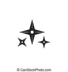 vector, illustratie, wapen, pictogram, ninja