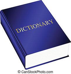 vector, illustratie, woordenboek