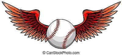 vector illustratio of Baseball ball with wings
