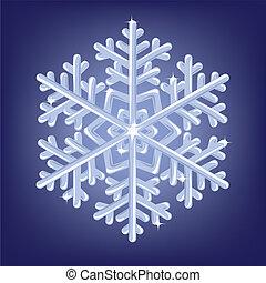 icy snowflake - Vector illustratiob of icy snowflake