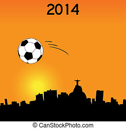 Vector illustration - 2014 World Cup in Rio