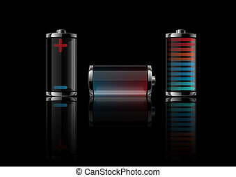 Vector illustration a battery