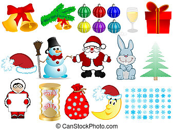 Vector illustration a Christmas set