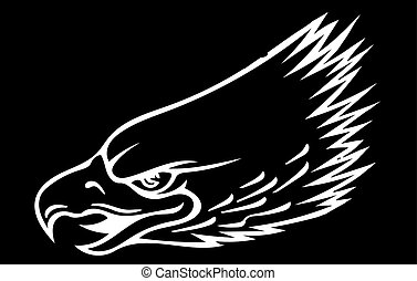 illustration a Eagle Head mascot in the black background