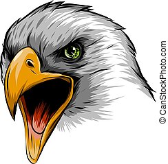 illustration a Eagle Head mascot in the white background