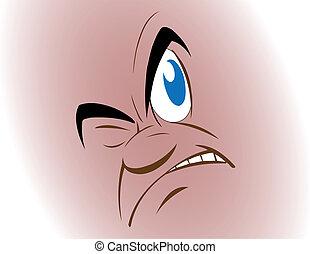 Vector illustration a face