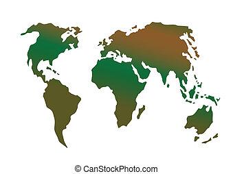 Vector illustration a globe card