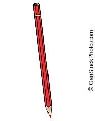 Vector illustration a red pencil