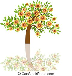vector illustration - a tree