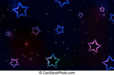 Multicolored stars on a dark background