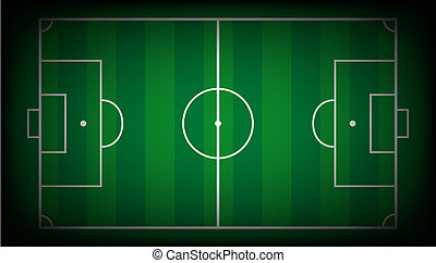 Vector illustration abstract background of soccer field with...