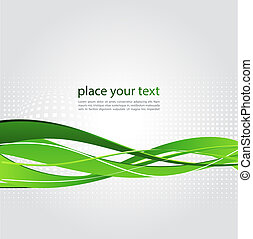 Abstract background with green wave - Vector illustration...