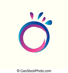 bstract colorful circle. Dynamic splash liquid shape.