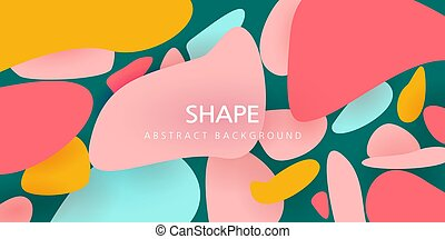vector illustration. abstract design. pastel colors of pink, blue, orange. abstraction of stones for your text