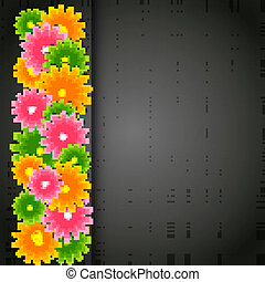 Vector illustration abstract  floral background