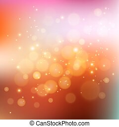 Abstract holiday light background with bokeh - Vector...